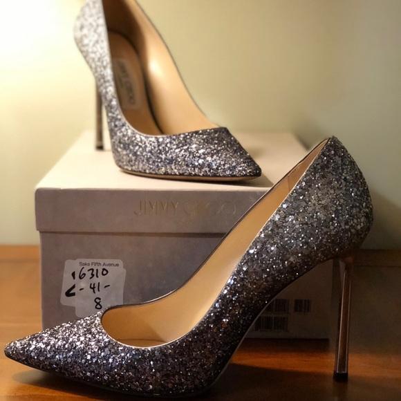 4ce324d1bbe Jimmy Choo Shoes - Jimmy Choo ROMY 100 Coarse Glitter Degradé Pumps